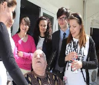 HUMANITIES STUDENTS VISITED THE OLD PEOPLES