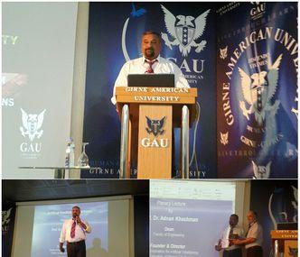 Second Keynote Speaker Prof. Dr. Adnan Khashman gave his speech.