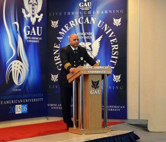 Kapt. Ünal Celasin Girne Amerikan Üniversitesi'ni Ziyaret Etti