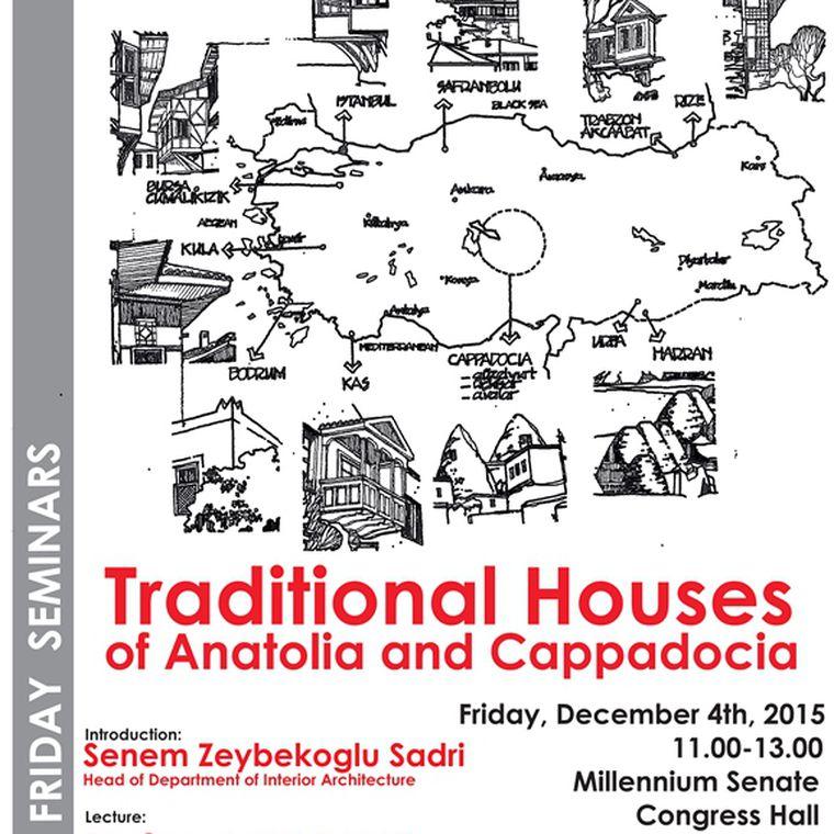 """CUMA SEMİNERİ-""""TRADITIONAL HOUSES OF ANATOLIA CAPPADOCIA"""""""